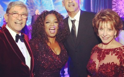 Chandlar Photobombs Oprah Winfrey's Press release Pic for 60th Birthday Bash